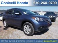 This one owner, certified, 2013 Honda CR-V EX-L has