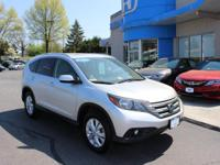 Honda Certified One Owner, 2013 CR-V EX-L AWD, Leather,
