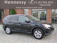 2013 Honda CR-V EX-L in Black, AWD. L/Certified by