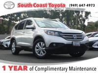 CARFAX One-Owner. Clean CARFAX. Silver 2013 Honda CR-V