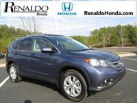 2013 Honda CR-V EX-L Twilight Blue Metallic   CARFAX