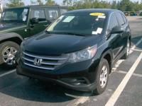 Black 2013 Honda CR-V LX AWD 5-Speed Automatic 2.4L I4