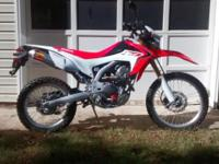 2013 Honda CRF250L. Ridden very little on street. Has