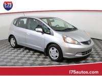 CARFAX One-Owner. Silver 2013 Honda Fit FWD 5-Speed