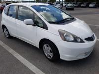 CARFAX One-Owner. Clean CARFAX. White 2013 Honda Fit LX