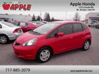 Recent Arrival! Clean CARFAX.2013 Honda Fit Milano Red