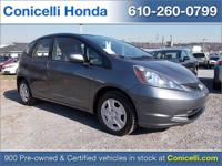 This CERTIFIED 2013 Honda Fit 5DR HB AT has ONLY 32,183