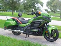 2013 Honda F6b. Custom painted Honda uranium green.