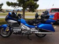 2013 Honda Goldwing 1800 . Blue and silver Goldwing