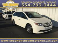 2013 Honda Odyssey EX-L in White vehicle highlights