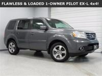 **WOW! FLAWLESSLY PAMPERED 2013 HONDA PILOT EX-L 4x4!