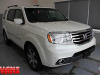 WHITE 2013 Honda Pilot Touring 4WD 5-Speed Automatic