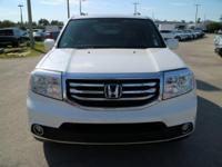 White 2013 Honda Pilot Touring FWD 5-Speed Automatic