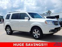 2013 Honda Pilot Touring in Diamond White Pearl vehicle