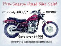 Make: Honda Mileage: 1 Mi Year: 2013 Condition: New 84