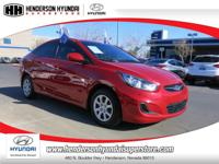 2013 HYUNDAI ACCENT GLS in RED has just 41,219 miles