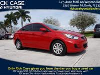 2013 Hyundai Accent GLS in Red. So clean, you can't