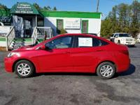 Options:  2013 Hyundai Accent Gls 4Dr Sedan|Red|2-Stage
