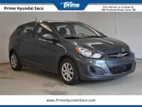 CARFAX One-Owner. 2013 Hyundai Accent in Cyclone Gray,