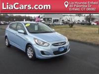 2013 Hyundai Accent in Clearwater Blue and Hyundai