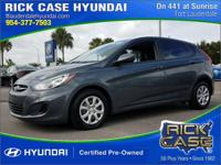 2013 Hyundai Accent GS  in Gray and 20 year or 200,000
