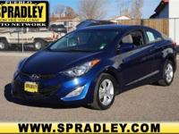 This 2013 Hyundai Elantra Coupe GS is offered solely by