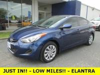 LOW LOW MILES!! -- JUST IN!! -- 2013 ELANTRA -- XM