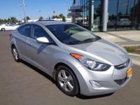 This 2013 Hyundai Elantra GLS, has a great Silver