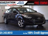 Midnight Black 2013 Hyundai Elantra GLS FWD 6-Speed