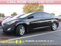 Options:  2013 Hyundai Elantra Gls|Black|Check Out This