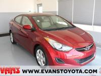 RED 2013 Hyundai Elantra FWD 6-Speed 1.8L 4-Cylinder