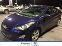 Gorgeous Blue 2013 Elantra GLS, Certified w/The