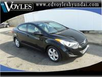 2013 Hyundai Elantra GLS in Black. New Price! 60/40