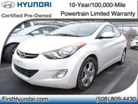 HYUNDAI CERTIFIED - JUST 17K MILES  - One owner Elantra
