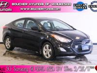Clean CARFAX. Black Diamond 2013 Hyundai Elantra GLS