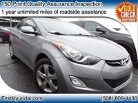 HYUNDAI CERTIFIED - FULLY SERVICED  - One owner Elantra