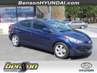 CLEAN CARFAX and CARFAX CERTIFIED. Elantra GLS and 4D