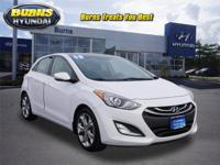 Very low miles, One Owner Certified White Elantra GT,