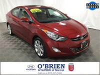 CARFAX One-Owner. Clean CARFAX. Red 2013 Hyundai