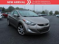 New arrival! 2013 Hyundai Elantra Limited PZEV! Only