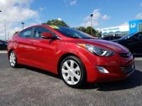 Red 2013 Hyundai Elantra Limited FWD 6-Speed Automatic