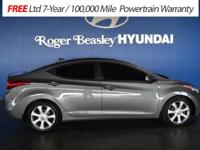 Certified! Check out this 2013 Hyundai Elantra Limited