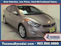 Certified Pre-Owner Elantra Limited This 2013 Hyundai