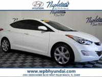 2013 Hyundai White Elantra*Technology Package: