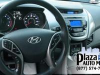 Certified. 2013 Hyundai Elantra GLS Shimmering Silver