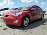 2013 Hyundai Elantra Limited in Red, not a rental,