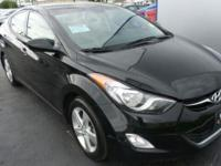 2013 Elantra Hyundai GLS Phantom Black 6 Speakers, ABS