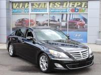 Black 2013 Hyundai Genesis 3.8 RWD 8-Speed Automatic