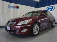 Trimmed in Cabernet Red Pearl, our 2014 Hyundai Genesis