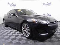 2013 Hyundai Genesis Coupe Black Certified. CARFAX